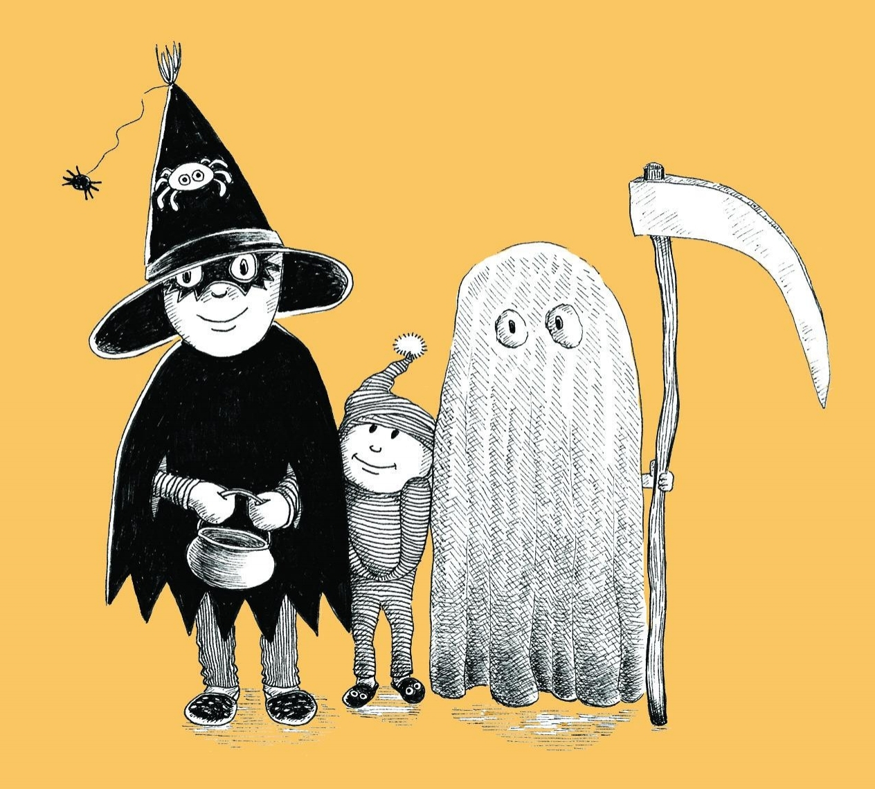 halloween illustration for inktober 2018 by sally barnett