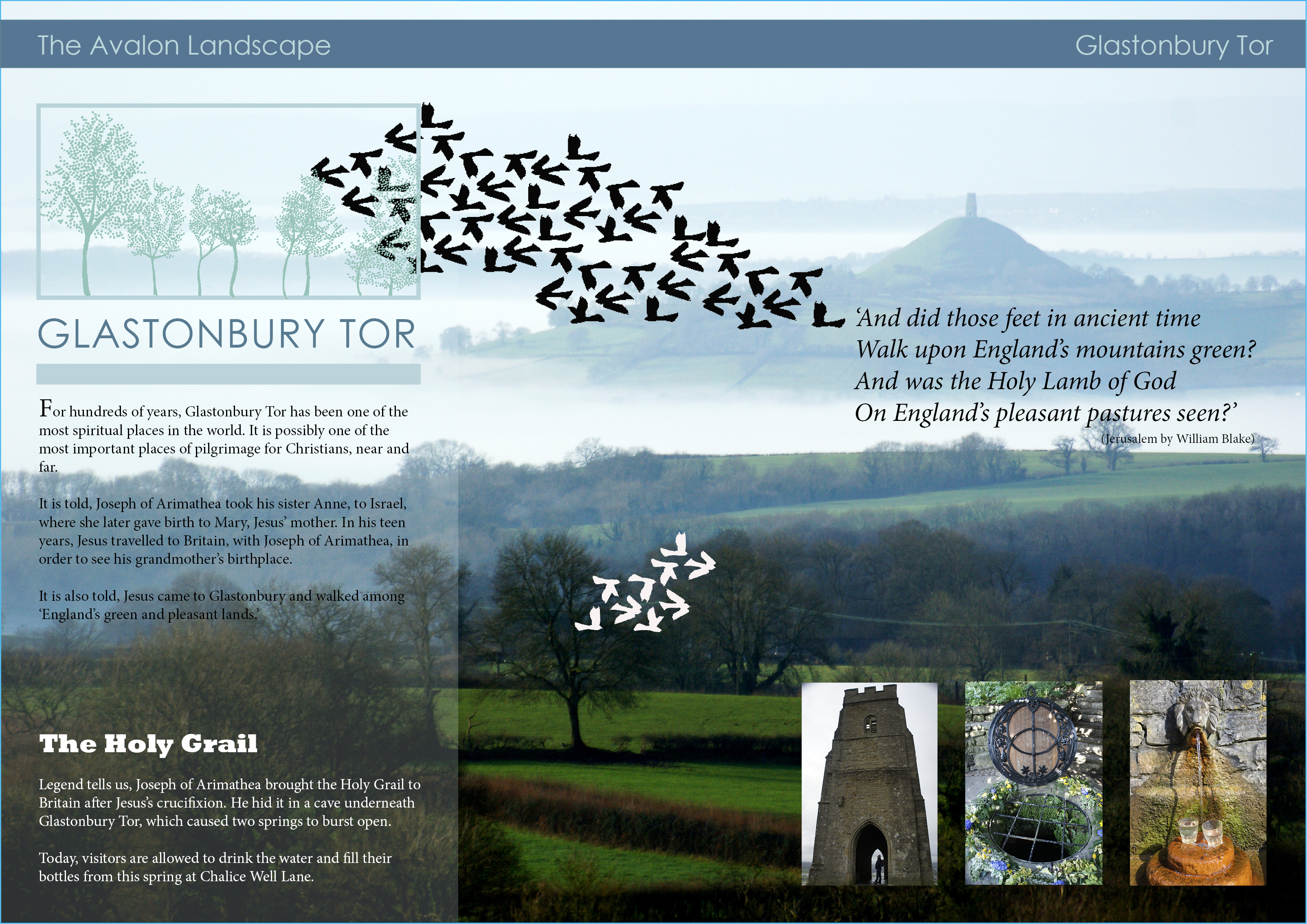 sally barnett photography of glastonbury tor and somerset levels for interactive magazine